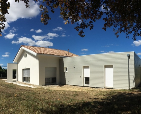 maison mixte Maçonnerie et ossature bois à côté de Saint André de Cubzac 33240