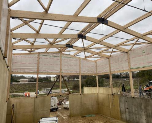 Construction chai viticole en Gironde