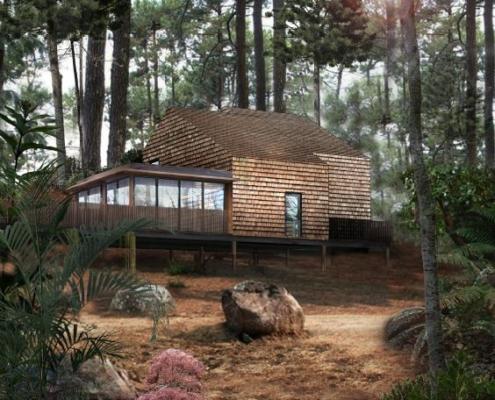 Construction en ossature bois à Biscarosse