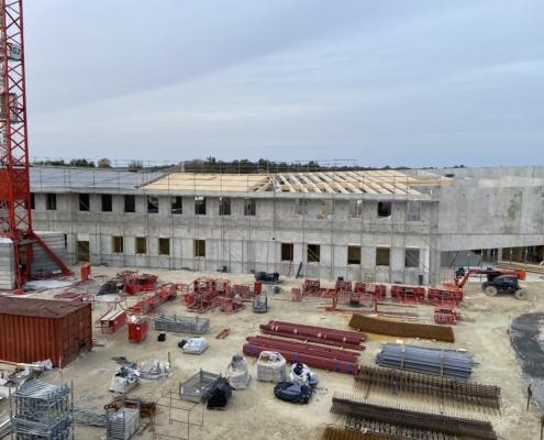 Construction école en ossature bois à Marsas